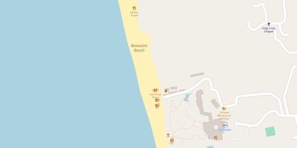 Benaulim Beach Map