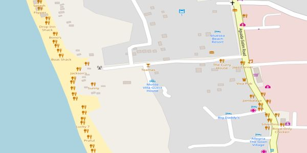 Candolim Beach Map - Goa