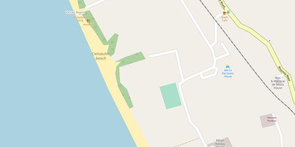 Cansaulim Beach Map - Goa