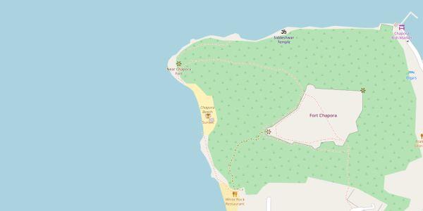 Chapora Beach Map - Goa