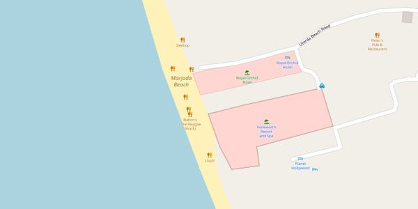Majorda Beach Map - Goa