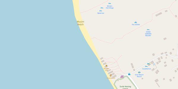 Morjim Beach Map - Goa