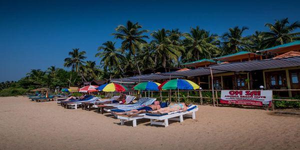 Om Sai Beach Huts, Agonda - Beach Huts in Goa