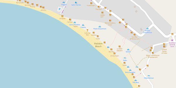 Palolem Beach Map - Goa