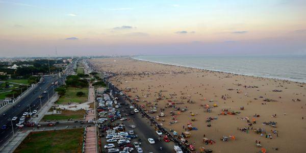 Marina Beach -longest beach in India