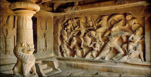 Mahishasura Rock - Mahabalipuram