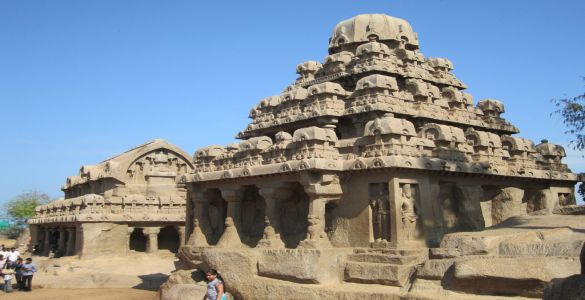 Pancha Rathas or Pandava Rathas - Mahabalipuram